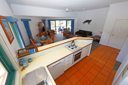 Living Area and Kitchen Bench